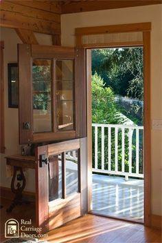 Door to the deck from the studio