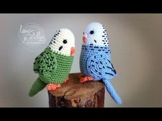 periquito amigurumi patron gratis parakeet free pattern crochet ganchillo by Josee van Haften Crochet Birds, Cute Crochet, Crochet Animals, Crochet Crafts, Yarn Crafts, Crochet Projects, Knit Crochet, Easy Crochet, Amigurumi Tutorial