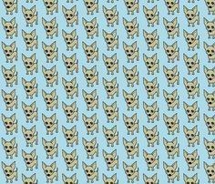 Chihuahua dog print FABRIC  (available in silk, canvas or cotton).