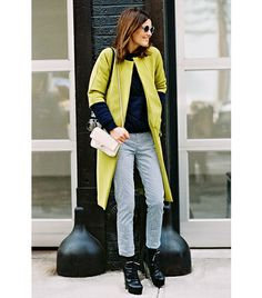 5. Invest in a vibrant coat and wear it over whatever you want.