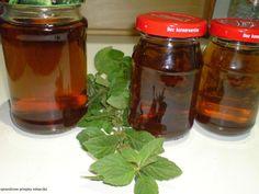 Sprawdzone Przepisy Misiaczka: Syrop miętowy Preserves, Pickles, Pantry, Salsa, Mason Jars, Smoothies, Herbs, Homemade, Canning