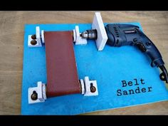DIY BELT SANDER Make A Homemade Belt Sander using impact drill machine. This Video shows How You can use a power drill in different ways.