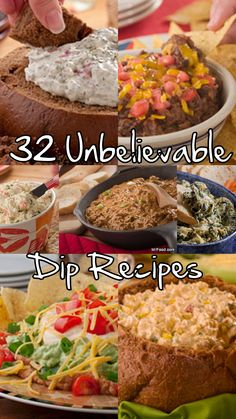 Gettin' ready for the big game this weekend? Don't show up empty-handed! We've got 32 unbelievable dip recipes you'll be raving about all night. From Tex-Mex to seafood to guacamole and much, much more, this is one collection you're going to come back to again and again.
