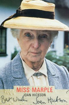 Joan Hickson - my favorite Miss Marple . was Agatha Christie's personal choice for the perfect Miss Marple. Agatha Christie, English Actresses, British Actresses, Actors & Actresses, Best Mysteries, Murder Mysteries, Cozy Mysteries, Miss Marple, Hercule Poirot