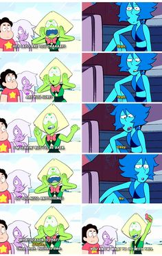 You know what I love about this? Lapis clearly struggles emotionally, and having a friend like Peridot ask and make sure that she is OK before leaving shows how good of a friend peri is. Like, she triple checks to make sure everything is good before she leaves. I just love that. ❤️