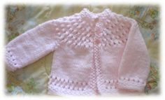 pretty baby sweater. I've already made a few of these... love this pattern!!