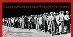 Serbs on the march into Croatian extermination camps.