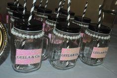 Tea Party Breakfast At Tiffany's Style Mason jars with pearls, Mason Jars
