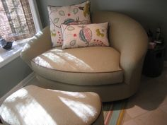 I want a big comfy love seat in my house!