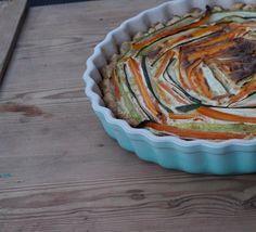 Zucchini Quiche in Le Creuset Tarteform