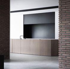 Vincent Van Duysen kitchen brick roman cabinetry joinery concrete floor