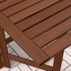 ÄPPLARÖ Gateleg table, outdoor - brown stained brown - IKEA