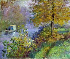 1875-76 - Claude Monet The studio boat (Ville de Neuchatel) - 54 x 65 cm