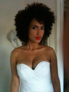 Natural hair wedding inspiration #2