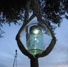 Mason Jar Solar Light & Macrame Holder