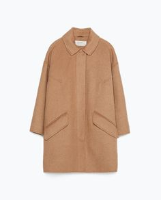 Camel HAND MADE COAT from Zara $118.30