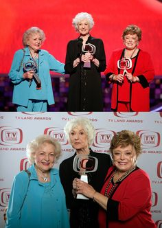 Sunday, June 8, 2008: The final reunion of The Golden Girls — Betty White, Bea Arthur & Rue McClanahan — at the Sixth Annual TV Land Awards.