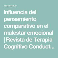 Influencia del  pensamiento comparativo en el malestar emocional | Revista de Terapia Cognitivo Conductual