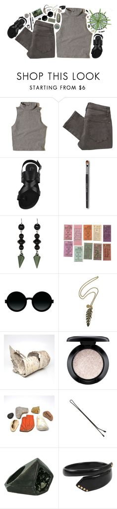 """""""replication"""" by desertrat ❤ liked on Polyvore featuring Hollister Co., Marc by Marc Jacobs, Franco Sarto, INDIE HAIR, Tarina Tarantino, Moscot, Alexander McQueen, MAC Cosmetics, Lady Grey and Monique Péan"""