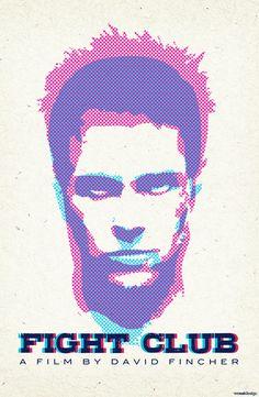 Minimalist Movie Poster: Fight Club by WeEatDesign