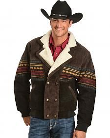 Red Ranch Aztec Border Jacket