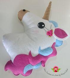 Resultado de imagen para unicornio em feltro