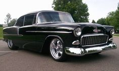 55' Chevy Bel Air. My daddy has one of these in his garage. Can't wait to cruise in it when it's down!  Someday it will be mine. He said :)