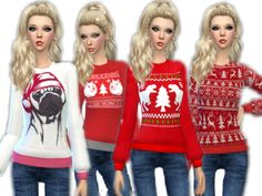 The Sims 4 Pc, Sims 4 Teen, Sims 1, Ugly Sweater, Ugly Christmas Sweater, Christmas Clothes, Maxis, Sims Packs, Sims 4 Cc Skin