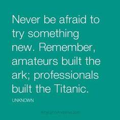 to new beginnings…