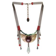 Red Horn Necklace by Nature Bijoux
