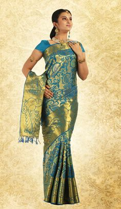 $320.63  Zari : Half-Fine  Material: Pure silk   Log on to www.pothys.co.in to view and order from one of the largest collections of sarees on the web.