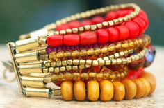 Red Shimmer Bracelet: Make a statement this...