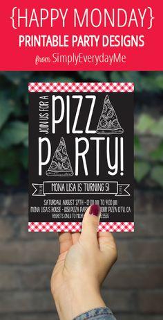 pizza party invitations free