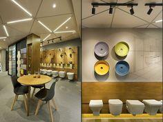 Ceramic Shoppe by a + t associates, Vadodara - India Showroom Interior Design, Tile Showroom, Visual Merchandising, Design Art Nouveau, Bathroom Showrooms, Ceramic Shop, Tile Stores, Retail Store Design, Bathroom Collections