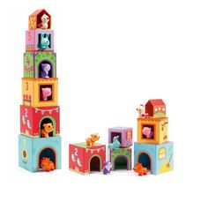 Djeco Topanifarm - stacking blocks with farm animals toys for toddlers at online retailer of imaginative play toys and toddler arts and crafts from Djeco, Moulin Roty, Melissa and Doug, Oskar and Ellen, Janod and Alex Toys Preschool Toys, Toddler Preschool, Toddler Toys, Kids Toys, Baby Toys, Stacking Blocks, Stacking Toys, Farm Animal Toys, Blocks For Toddlers