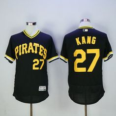 bad5efbcf Pirates  27 Jung-ho Kang Black Flexbase Authentic Collection Cooperstown  Stitched MLB Jersey