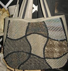 Quilted chenille bag and pattern