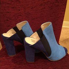 """Gorgeous Pumps..Victoria's Secret! NWOT Head Stopper!!!! Pumps Victoria's Secret. NWOT. Royal Blue and Light Blue color Beautiful!!!!! Heel size 4"""" Victoria's Secret Shoes Heels"""