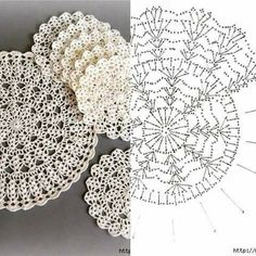Ideas for crochet patrones ganchillo carpetas Crochet Doily Diagram, Crochet Doily Patterns, Crochet Chart, Thread Crochet, Crochet Stitches, Crochet Circles, Crochet Round, Crochet Squares, Crochet Dollies