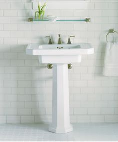 Ordinaire The Kathryn Pedestal Sink Brings Timeless Sophistication To The Bathroom  With Its Rectangular Basin, Angled