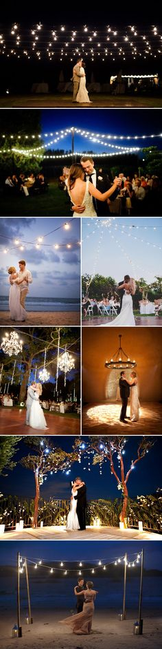 22 Beautiful Dance Floor Decoration Ideas - Hanging lights