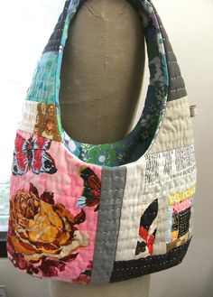Kantha stitched tote bag.