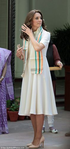Catherine, Duchess of Cambridge visits Gandhi Smriti, a museum located in Old Birla House, where Mahatma Gandhi, India's founding father, spent the last few years of his life, on April 11, 2016 in New Delhi, India.