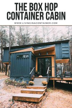 Building A Container Home, Container Buildings, Container House Plans, Container House Design, Tiny House Design, Shipping Container Cabin, Shipping Container Home Designs, Cargo Container Homes, Shipping Containers
