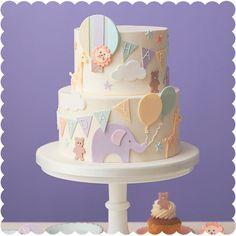 Peggy Porschen Cakes has a selection of Birthday cakes and cupcakes. Boys First Birthday Cake, Animal Birthday Cakes, Cute Birthday Cakes, Baby Cake Design, Cake Designs For Girl, Peggy Porschen Cakes, Beautiful Cake Designs, Elephant Cakes, Baby Girl Cakes