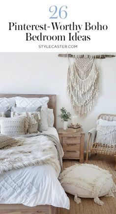 Looking for boho decor ideas? Here are 11 boho bedroom ideas that will give you inspiration for your bedroom makover and bedroom decor inspiration! Bohemian Bedrooms, Rustic Bedrooms, Decoration Bedroom, Boho Bedroom Decor, Bedroom Ideas, Bedroom Inspiration, Budget Bedroom, Bohemian Apartment Decor, Newlywed Bedroom