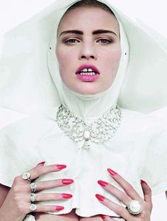 Lara Stone by Decric Buchet for French Vogue, Dec. 2009....x
