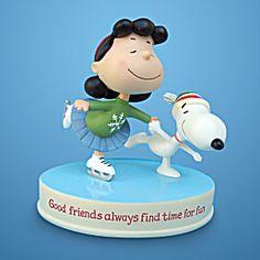hallmark peanuts figurines | Lucy & Snoopy: Hallmark Peanuts Gallery Figurine 2011 (Peanuts ...