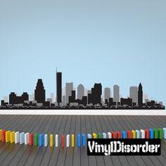 Boston Mass Skyline Vinyl Wall Decal or Car Sticker SS055