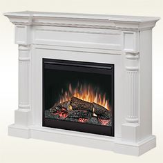 Lowest price on Dimplex Winston White Mantel Electric Fireplace With Logs Shop today! Dimplex Fireplace, Dimplex Electric Fireplace, Tv Above Fireplace, Fireplace Built Ins, Shiplap Fireplace, Victorian Fireplace, Small Fireplace, Concrete Fireplace, Marble Fireplaces